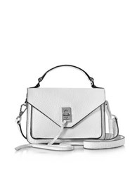 Rebecca Minkoff Optic White Leather Mini Darren Messenger Bag
