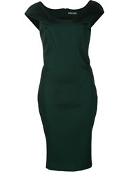 Zac Posen Fitted Dress Green
