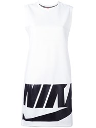 Nike Logo Print Dress White