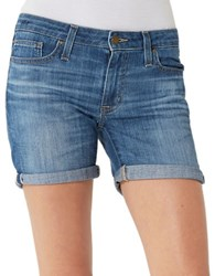 Big Star Faded Denim Shorts Leda Blue