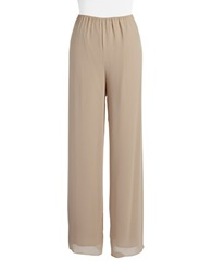 Alex Evenings Plus Chiffon Pants Champagne