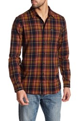Volcom Shefield Long Sleeve Modern Fit Flannel Shirt Blue
