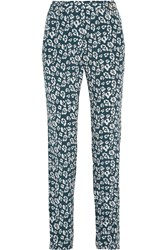 Equipment Carla Printed Washed Silk Tapered Pants