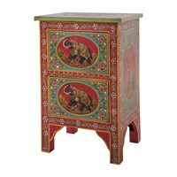 Ian Snow Hand Painted Elephant Two Drawer Cabinet