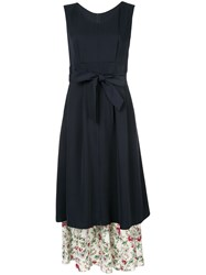 Loveless Layered Midi Dress Blue