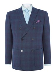 Without Prejudice Men's Tennyson Double Breasted Teal Jacket Multi Coloured Multi Coloured