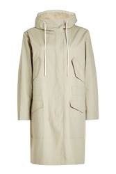 Closed Cotton Coat With Hood