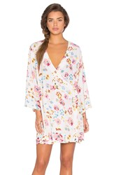 Somedays Lovin Sophia Floral Cape Dress White