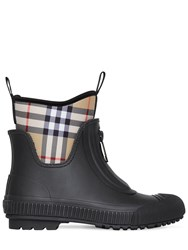 Burberry 20Mm Flinton Neoprene And Rubber Boots Black