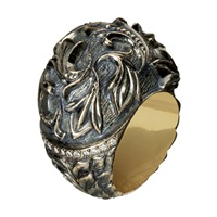 Queensbee Gothic Lily Ring Gold