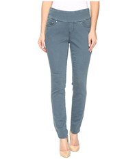 Jag Jeans Petite Nora Pull On Skinny Freedom Colored Knit Denim In Opal Opal Women's Pewter