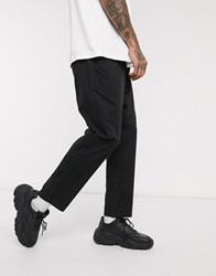 Only And Sons Cropped Chinos In Black