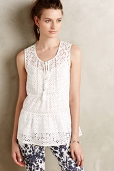 Meadow Rue Skirted Crochet Tank White
