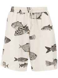 Osklen Printed Shorts Nude And Neutrals
