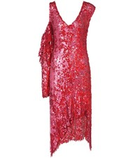 Magda Butrym Bristol Sequin Embellished Asymmetric Dress Red