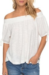 Roxy 'S Caribbean Mood Off The Shoulder Top Marshmallow