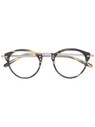 Oliver Peoples Turtle Print Glasses Brown