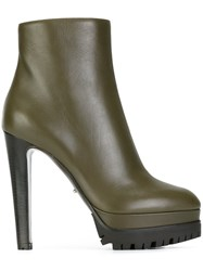 Sergio Rossi High Heel Booties Green