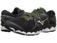 Mizuno Wave Sky 2 Black Safety Yellow Running Shoes Gray