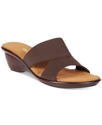 Onex Urban Slide Wedge Sandals Women's Shoes Chocolate