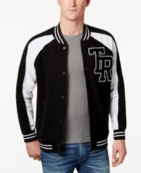 True Religion Men's Collegiate Bomber Jacket Black