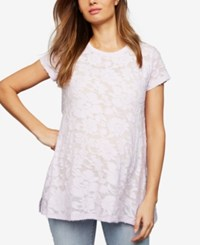 A Pea In The Pod Maternity Burnout T Shirt Lavender
