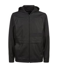 Alexander Wang Hooded Leather Jacket Black