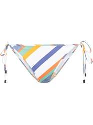 The Upside Striped Bikini Bottoms White