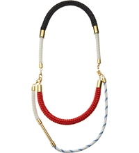 Marni Nautical Cord Necklace Hot Red