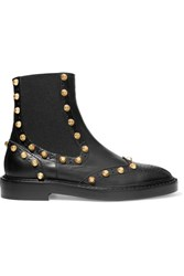 Balenciaga Studded Leather Ankle Boots Black