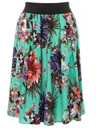 Evans Plus Size Printed Skirt Multi Coloured