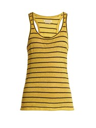 Etoile Isabel Marant Avien Linen And Cotton Blend Tank Top Yellow