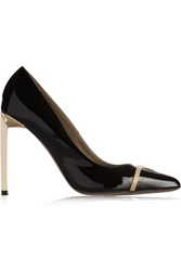 Versace Embellished Patent Leather Pumps