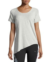Puma Evolution Side Knot Athletic Tee Gray