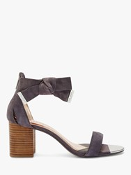Ted Baker Loopie Suede Block Heel Sandals Charcoal