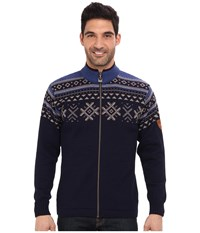Dale Of Norway Dovre Jacket H Navy Mountainstone Indigo Men's Sweater Black