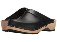 Swedish Hasbeens Husband Black Black Rubber Women's Clog Shoes