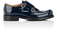 Church's Women's Petunia Patent Leather Double Monk Strap Shoes Blue