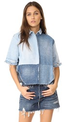 Prps Denim Tear Drop Top Window Pane