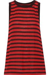 Current Elliott Woman The Easy Striped Modal Blend Tank Tomato Red