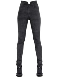 Isabel Marant High Waist Stretch Suede Pants