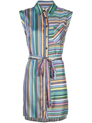 Milly Striped Day Dress Blue