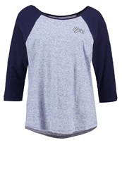 Gap Long Sleeved Top Light Blue Heather Mottled Light Blue