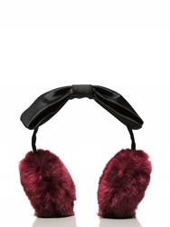 Kate Spade Earmuff With Satin Bow Midnight Wine