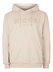 Nicce Brown Stone Embroidered Logo Hoodie