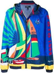 Polo Ralph Lauren Sailboat Print Hooded Jacket Blue