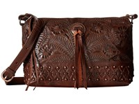 American West Dove Canyon Crossbody Chestnut Brown Cross Body Handbags