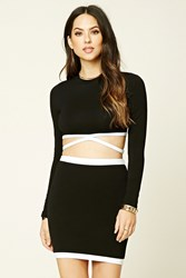 Forever 21 Contrast Strappy Crop Top