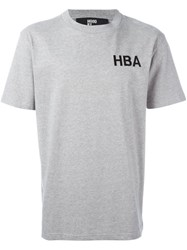 Hood By Air 'Crew' Print T Shirt Grey