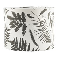 Clarissa Hulse Scattered Fern Lamp Shade White Storm Black And White